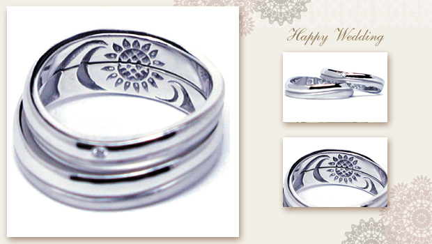 140823w850 Made to order Wedding ring Sunflower