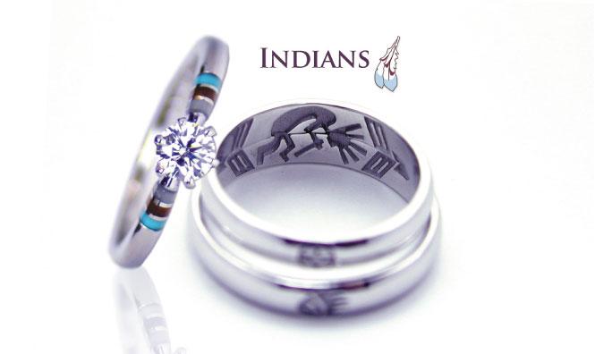 インディアンジュエリーの婚約指輪