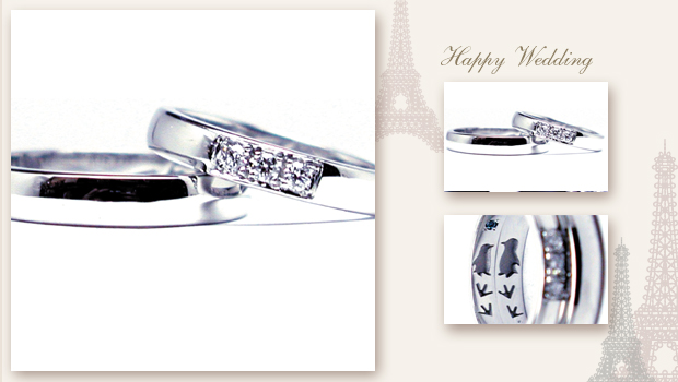140823w895 Made ro order Wedding ring Diamond