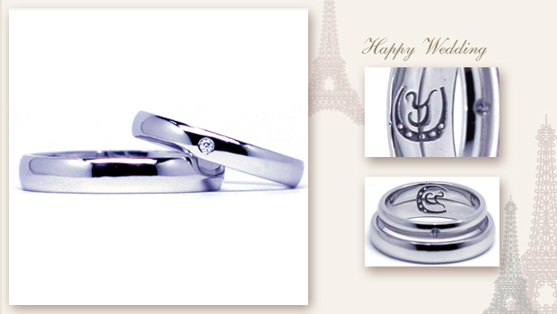 14114w743 Smple Order Marriage ring Initial Horse's hoof