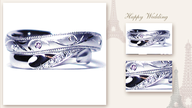 140823w869 Made to order Wedding ring Diamond Initial