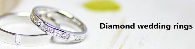 ダイヤモンドの結婚指輪のオーダーメイド特集