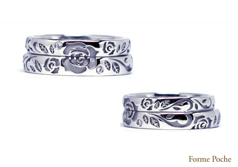 14220w865-ring02Made to Order Wedding Ring Rose Initial