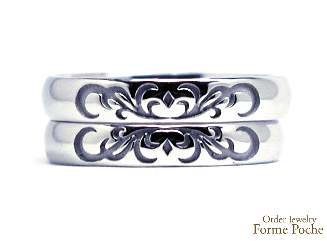 20140302w856-04Made to Order Wedding ring Pink Diamond Wing