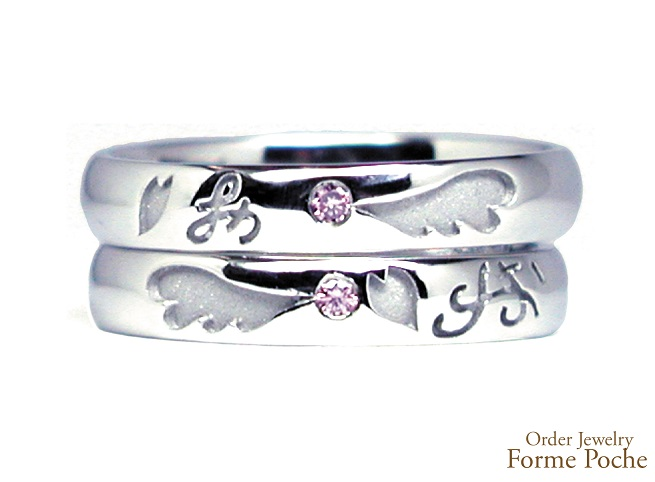 20140302w856-05Made to Order Wedding ring Pink Diamond Wing