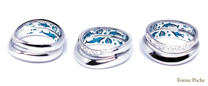 20140410w864 OrderMarriageRing Dolphin Penguin Diamondo ring-inside