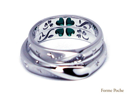 20140614w880-R02 Made to Order Wedding ring Clover Star
