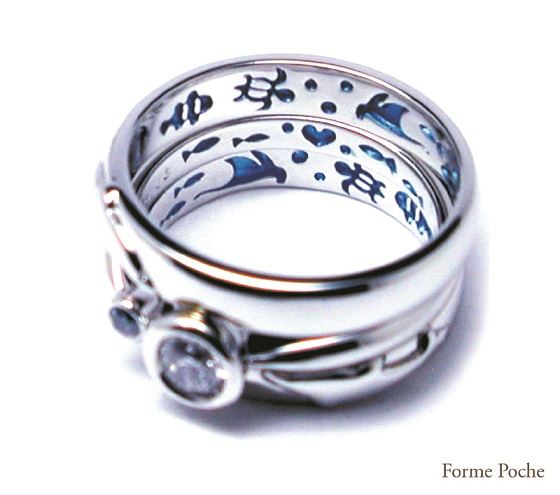 20140623w884-04 Made to order Wedding ring Dolphin