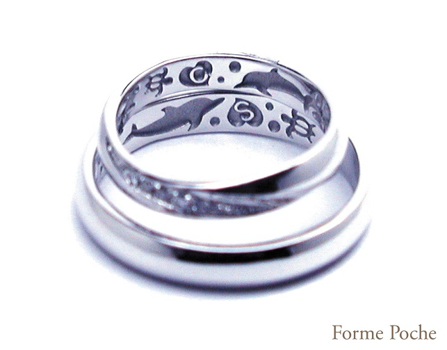 140412w868 OrderMarriage Ring 大阪 Dolphin ring-02