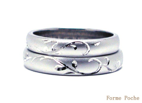 20140703w896-R01 Made to Order Wedding ring Cat Snow Initial
