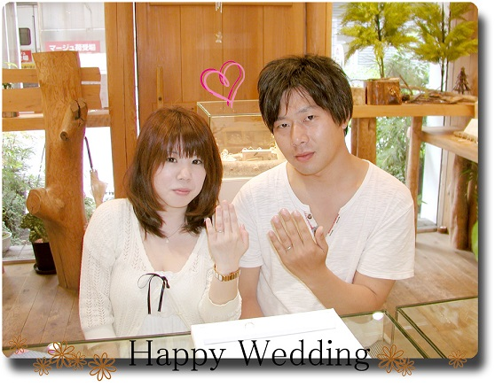 オーダーメイド ネコの結婚指輪 hi141004-02-06