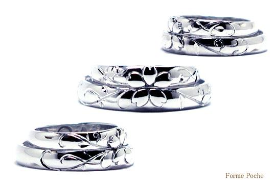 オーダーメイド 桜の結婚指輪 hi141004-02-04