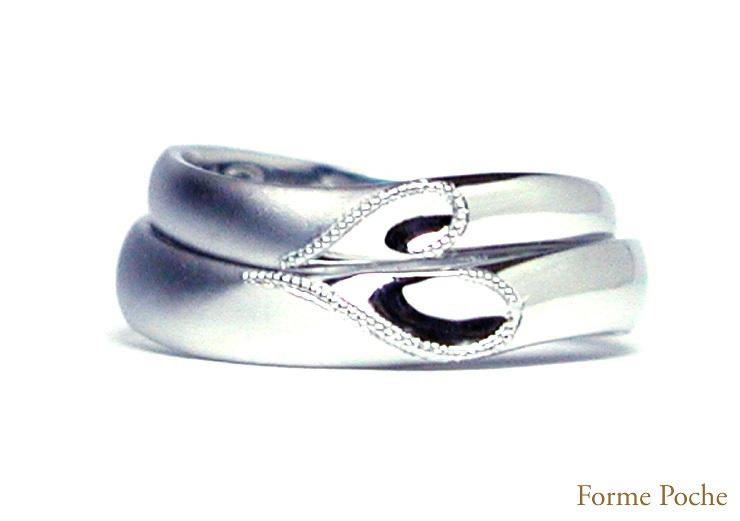 ハートの結婚指輪 オーダーメイド hi141030-R01