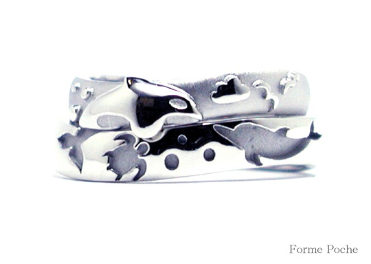 結婚指輪 シャチイルカ  hi141024-02