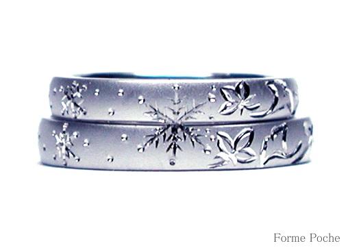 手彫り オーダーメイドの結婚指輪 hi141025-R02