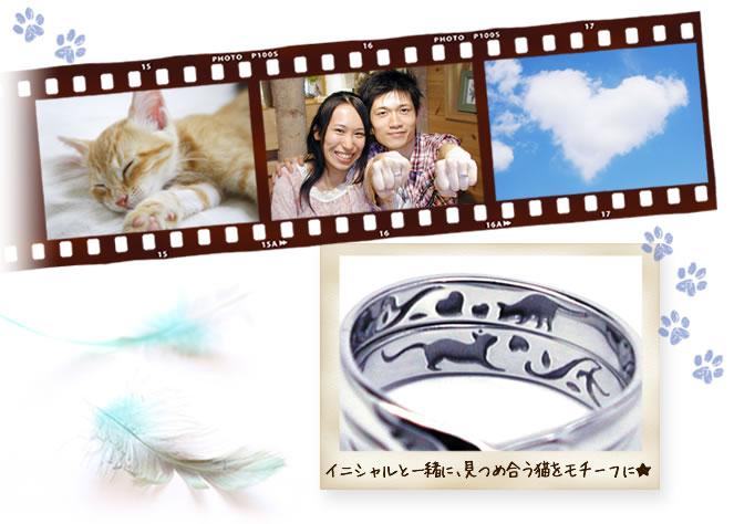 w847-結婚指輪のモチーフの猫-ha140930