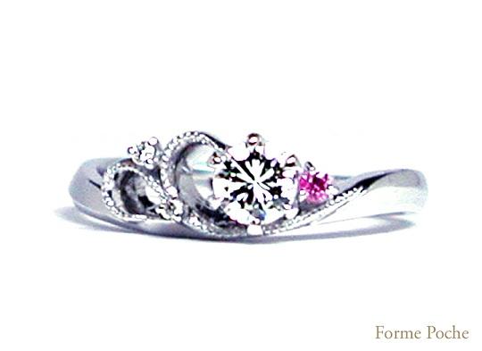 オーダーメイドの婚約指輪 141107-w918R02
