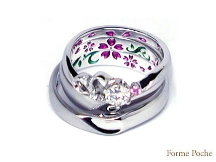 オーダーメイドの婚約指輪 hi141107-w918R04