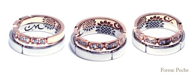 ひまわり オーダーメイド結婚指輪の内側 hi141108-01w86703