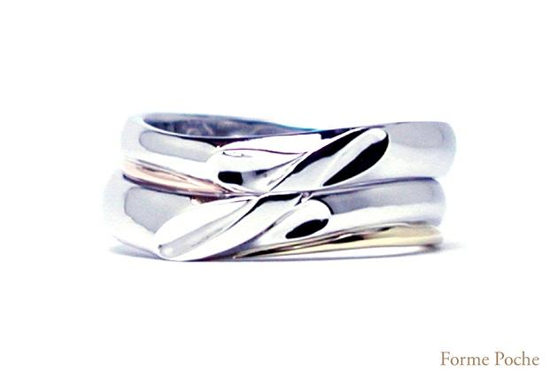 オーダーメイド結婚指輪 イニシャル hi141206w923-R01