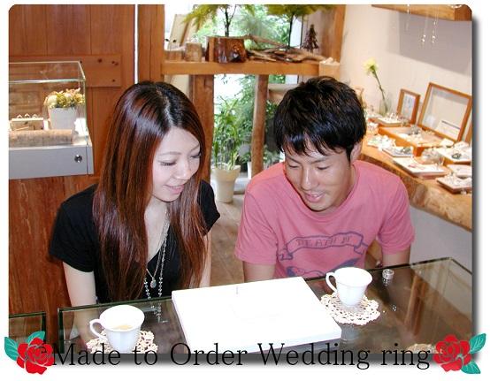 オーダーメイド結婚指輪お引き取り時 hi141129-89701