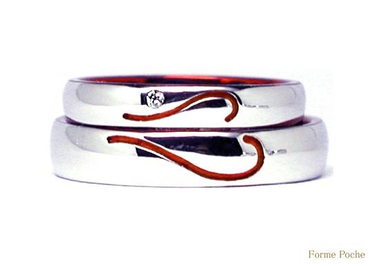 赤ハート オーダーメイド結婚指輪 hi141129-897R01