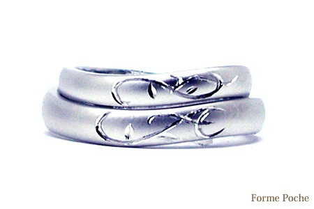 唐草 イニシャルのオーダーメイド結婚指輪150125w912-R01