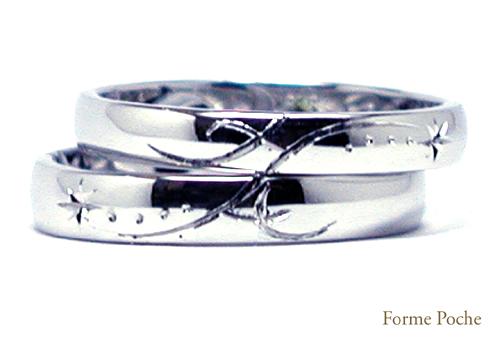 オーダーメイド 結婚指輪 イニシャル 150219w927-R01