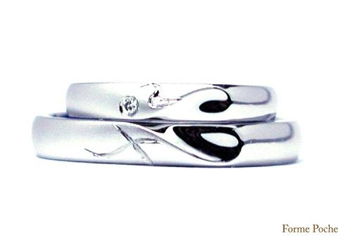 イニシャルハート オーダ結婚指輪150206W907-R1