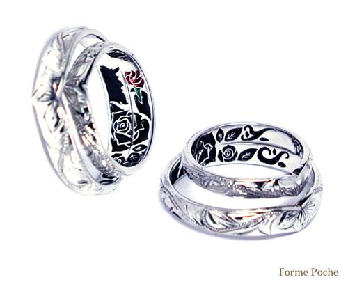 想いでのミュージカル バラ 結婚指輪 150215w932-R02