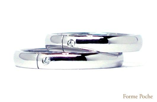 オーダーメイド結婚指輪 シンプル hi150222w936