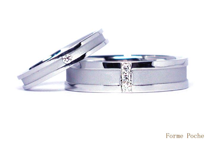 オーダーメイド 結婚指輪 幅広 シンプル ダイヤモンド 20150326w964-R01