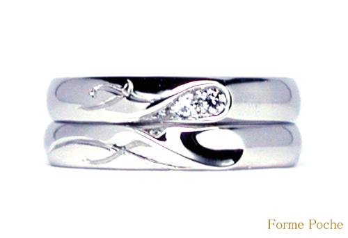 オーダーメイド結婚指輪 イニシャルハート ダイヤ 150309w939-R02