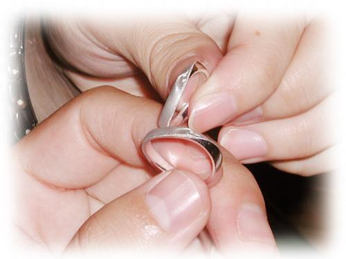 オーダーメイド 結婚指輪 イニシャル 150309w953-03