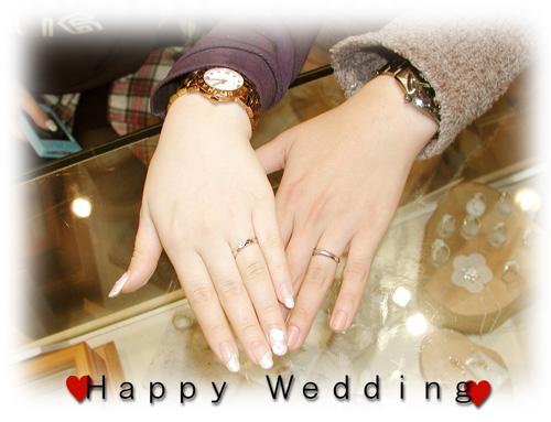 オーダーメイド結婚指輪 お引取り時 150309w939-01