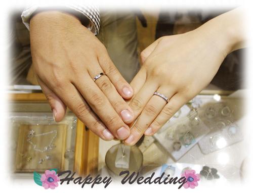 オーダーメイド結婚指輪 お引取り時 20150328w937-01