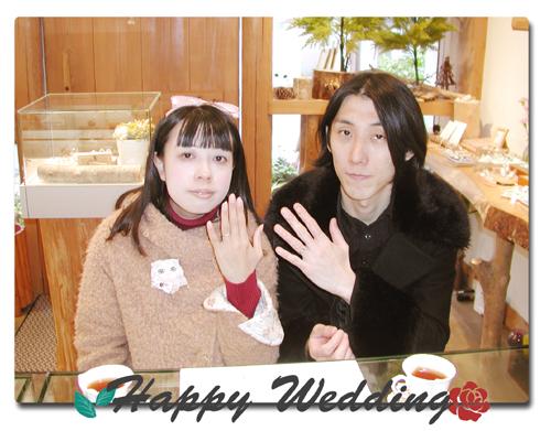 オーダーメイド 結婚指輪 お引取り時 150404w957-01