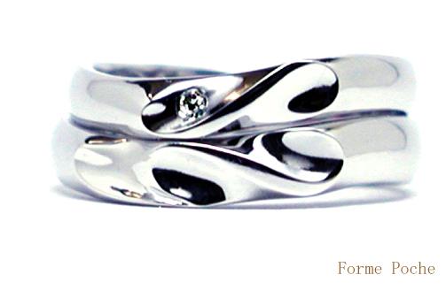 オーダーメイド 結婚指輪 イニシャル ハート 150403w905-03