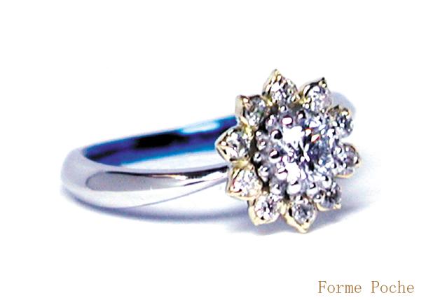 オーダーメイド 婚約指輪 ひまわり hi150403w903-R2