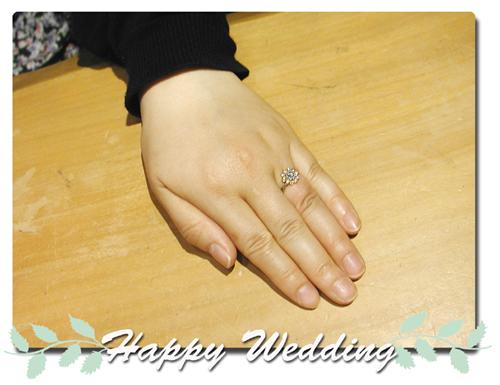 オーダーメイド 婚約指輪 ひまわり hi150403w903-01