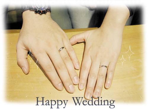オーダーメイド結婚指輪 愛犬 hi150517w934-1