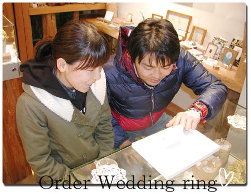 オーダーメイド 結婚指輪 クジラ ブルー hi150517w966-1