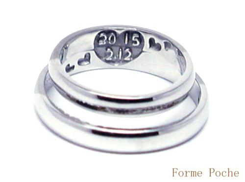 結婚指輪 オーダーメイド 内側彫刻 記念日 hi150630w961R2