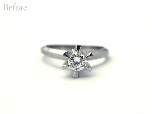 バラ オーダーメイド婚約指輪 リフォーム hi150727w982-R3