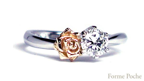 バラ オーダーメイド婚約指輪 hi150727w982-R2