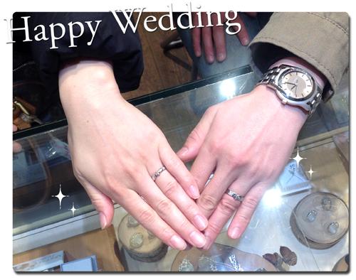 ユリの紋章 オーダーメイド結婚指輪 hi150802w928-01