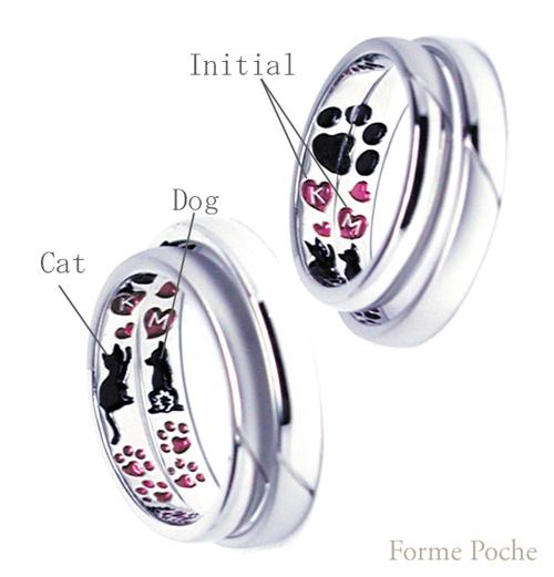 シンプルオーダーメイド結婚指輪 hi150802w993R2