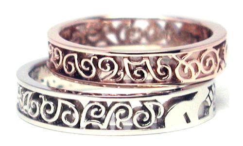 透かし 結婚指輪 オーダーメイド ギター 音符 hi1508010w994-R2