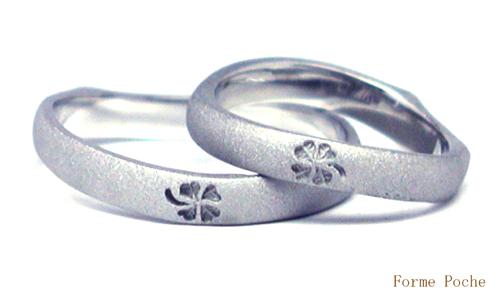 結婚10周年オーダーリング クローバー hi150828w203R2