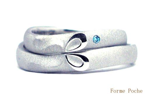 結婚10周年オーダーリング リボン 月 hi150828w203R1
